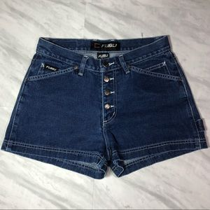 FUBU Button Fly Jeans Shorts 7/8